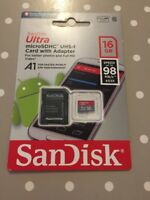 Sandisk 16GB Ultra Micro SD SDHC Memory Card 80MB/s UHS-I Class 10