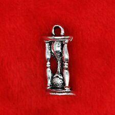 8 X Plata Tibetana 3d Hourglass encanto colgante encontrar Bead haciendo