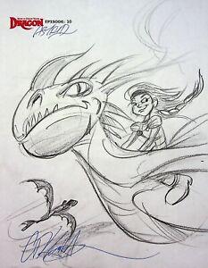 DreamWorks Dragons SIGNED DAN KUBAT Production Hand Drawn Storyboard Panel #KB