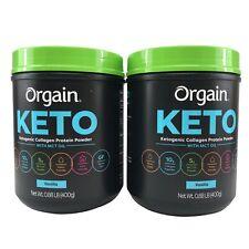 (2) Orgain Keto Ketogenic Collagen Protein Powder Vanilla 0.88 Lbs Exp-08/2021