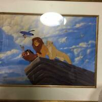 DISNEY LION KING ART CEL WALL DECOR POSTER COLLECTIBLE F/S JAPAN RARE