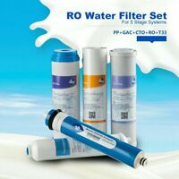 5pcs Set Water Filter Cartridge Replacement Reverse Osmosis For 5 Stage System