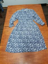 Vintage  WILLIE OF CALIFORNIA Secretary Dress Sz 14 paisley floral