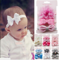 3Pcs/Set Newborn Girl Bow Headband Ribbon Elastic Baby Headdress Kids Hair Ba I2