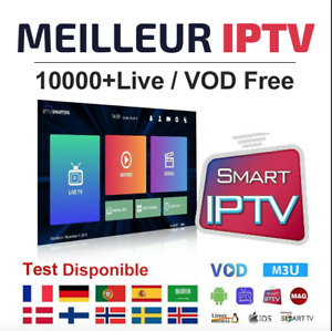IP-TV 💥12 Mois💥Android TV💥Box TV💥Smart TV💥M3U💥VOD💥PC💥Football💯✅
