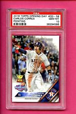 2016 TOPPS OPENING DAY #OD-58 CARLOS CORREA POINTING PSA 10 GEM MINT #26294586