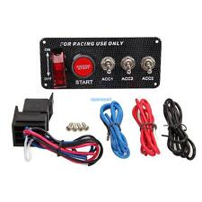 Ignition Switch 12V Panel Engine Start Push Button LED Toggle 12V For Racing Car