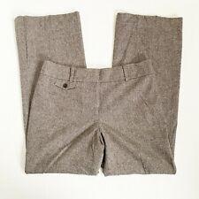 H Ann Taylor White Blue Diamond Trellis Print Slim Ankle Stretch Pants $88