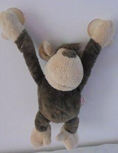 "NICI Brown Monkey Plush with window suckers 9"""