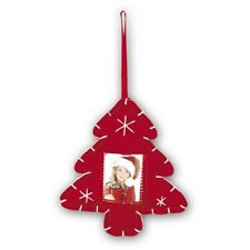 Christmas Xmas Tree Red Felt Hanging Photo Decoration - To Be Personalised