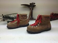 VINTAGE KINNEY BROWN LEATHER COLORADO LACE UP ITALY MOUNTAIN BOOTS SIZE 7.5 M