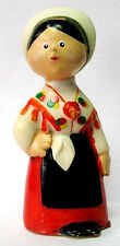 1950s Vtg Soviet Russian Old Doll Toy Figurine Rubber Ukrainian Girl Costume