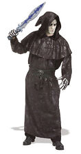Adult Dark Vengeance Black Hooded Robe Cloak Medieval LARP Cosplay Adult Size