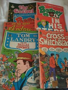 7 Vintage Christian Spire Comics 1970s Collectable