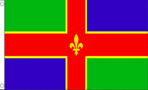 Lincolnshire English County Flags Bunting Hand wavers 3X2 5X3 8X5 18X12