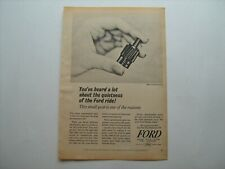 "1965 ""Ford Quietness--Nylon Speedometer Gear"" vintage '65 ad from private estate"