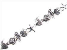 Silver Toned Sea Animal Theme Magnetic Bracelet