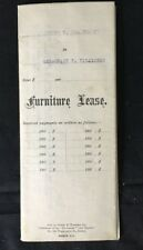 1915 Antique FURNITURE LEASE Massachusetts SEWING MACHINE Rugs BED Curtains DESK