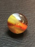 #10149m Rare Vintage Peltier Red Angel Marble .60 Inches *Mint*