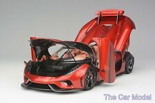 Koenigsegg Regera Candy Red, Ltd 299 pcs Opened Version FrontiArt 1/18 - No MR