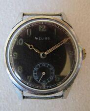 Vintage Helios DH WWII military men's watch striking original black dial