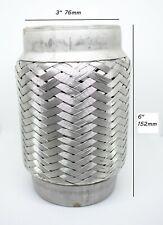 """3"""" x 6"""" Exhaust Flexi Inc Ends 100% Stainless Steel Weldon 76mm x 150mm Flex"""
