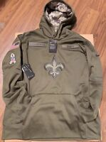 LE 2018 Nike New Orleans Saints Salute to Service STS Therma Hoodie LARGE Brees