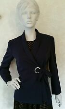 Marks and Spencer double Breasted tie blazers/Navy Blue Size: UK12