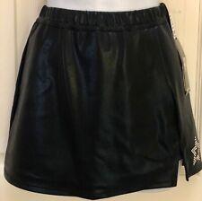 Gk Elite Cheer Skirt Adult X-Large Black Mystique School Fit Front Slit Axl