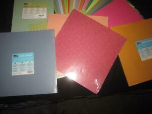 STAMPIN' UP! & CTMH DESIGNER SERIES PAPER & CARDSTOCK LOT 200 SHEETS 8.5X11 +12""