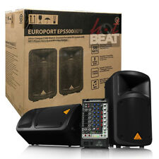 Behringer EPS500MP3 Portable PA Speaker System, Mic & Cables **MINT**