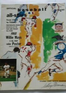 1972 Official Baseball All Stars Magazine 1933-Today Leroy Neiman art Hank Aaron