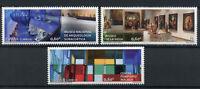 Spain 2017 MNH Museums La Rioja Centre Pompidou 3v Set Art Painting Stamps