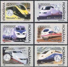 Romania 2004 Trains/Locomotives/Railways/Rail/Transport 6v set (n11904)