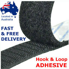 Self Adhesive HOOK and LOOP Fastener Tape Sticky Back Black or White Fastening