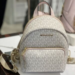 MICHAEL KORS ERIN SMALL MINI CONVERTIBLE PVC LEATHER BACKPACK MK VANILLA Pink