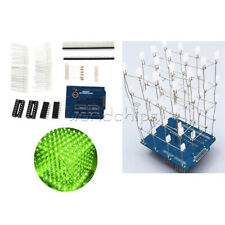 4X4X4 Light Cube Kit for Arduino UNO shield LED Precise DIY Kit Green
