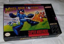 Mega Man Soccer Super Nintendo SNES CIB nice condition