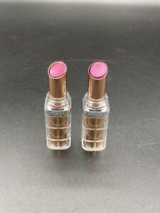 (2) Loreal Colour Riche Plump & Shine Lipstick Imperfect 105 - Mulberry Plump
