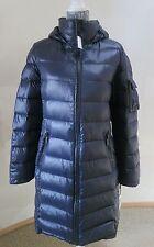 Calvin Klein Navy Blue Premium Down 650 Fill Long Packable  Coat Jacket Hood L