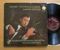 CTL 7070 ED1 Brahms Violin Concerto Nathan Milstein Steinberg Capitol Original