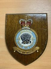 More details for vintage raf royal air force 65 squadron station crest shield wall plaque (p3)