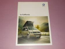 VOLKSWAGEN California camping-car brochure catalogue - édition 07/2011 Français