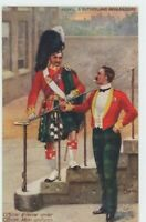 Argyll & Sutherland Highlanders Officers Harry Payne Tuck 9937 Art Postcard C003