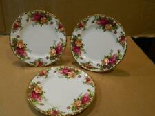 """3 Royal Albert Old Country Roses 6"""" Plates Made In England Vintage"""