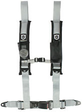 "Pro Armor Seat Belt Harness 4 Point 2"" Silver Auto Latch Honda Pioneer Talon"