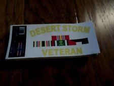 U.S Military Desert Storm Veteran Window Decal Bumper Sticker