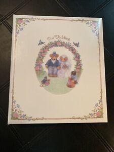 "Vintage Hallmark ""Our Wedding"" Refillable Expandable Album Bears WCA-2400 NEW"