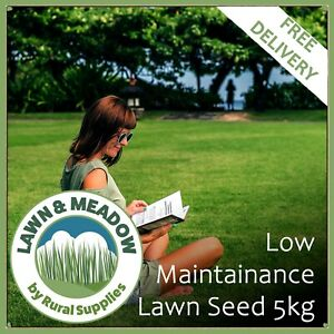 Low Maintenance Lawn Grass Seed 5KG - EASY SLOW GROWING SEED LESS MOWING