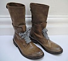 BRUNELLO CUCINELLI brown leather and suede boots Italian size 40 WORN TWICE